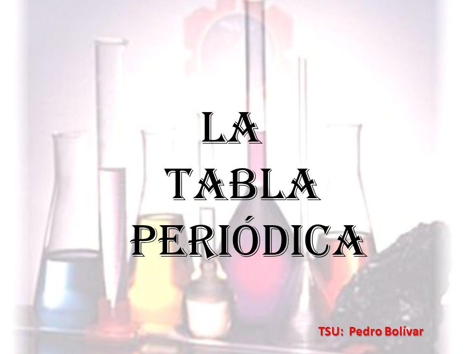 La Tabla Periódica TSU: Pedro Bolívar