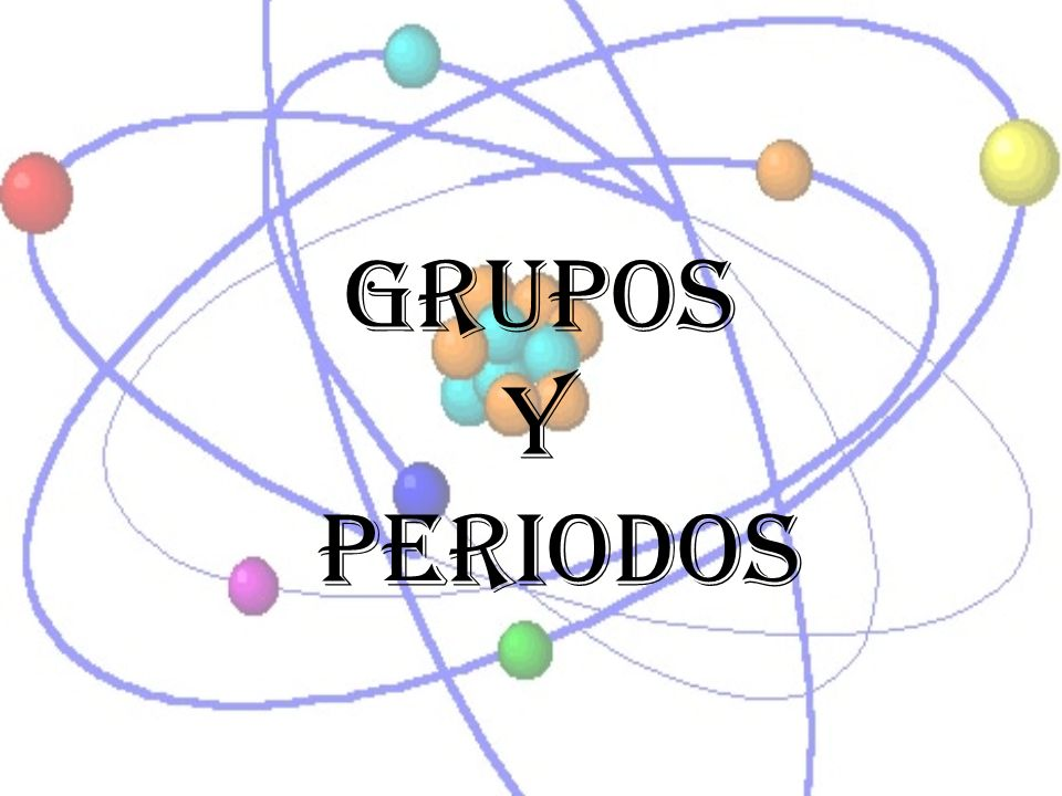 Grupos Y periodos