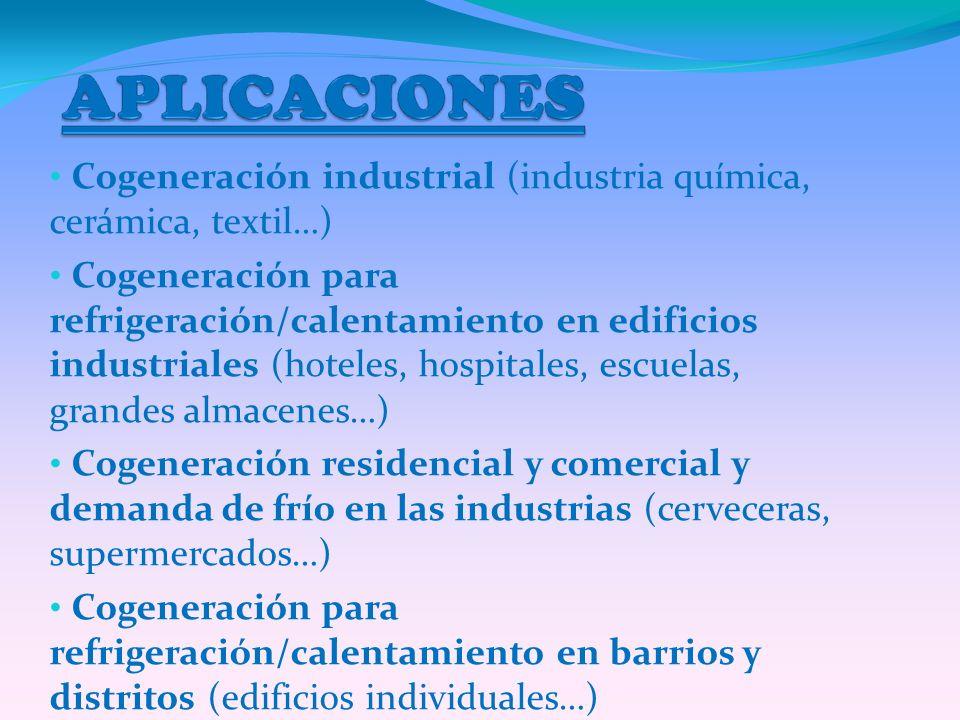 Cogeneración industrial (industria química, cerámica, textil…)