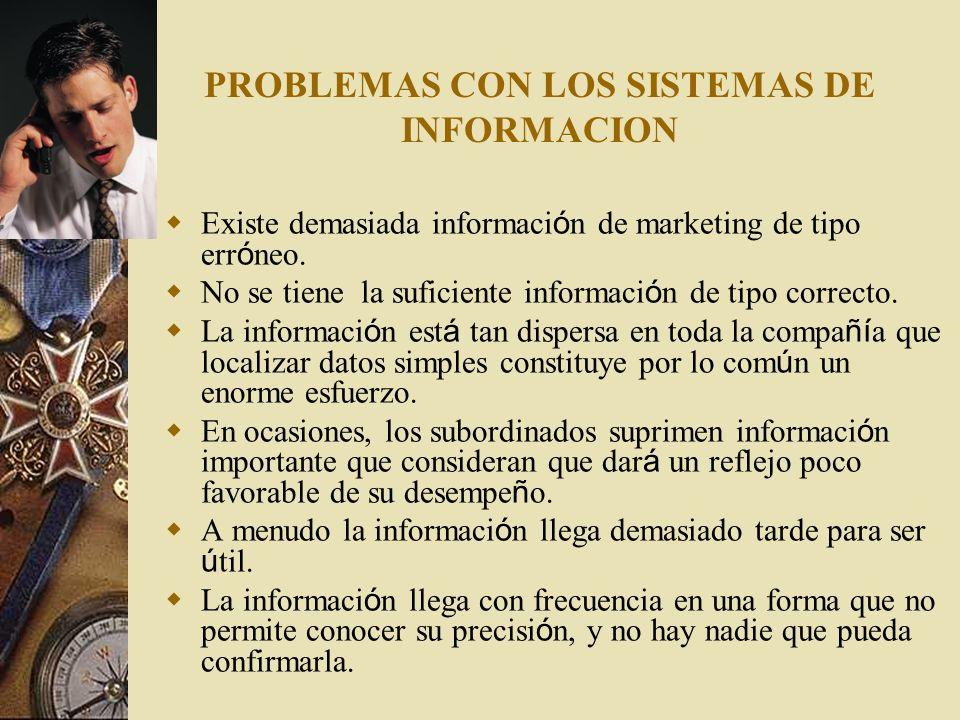 PROBLEMAS CON LOS SISTEMAS DE INFORMACION