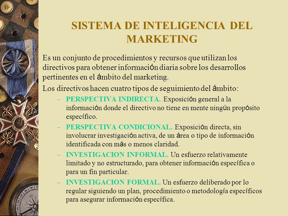 SISTEMA DE INTELIGENCIA DEL MARKETING