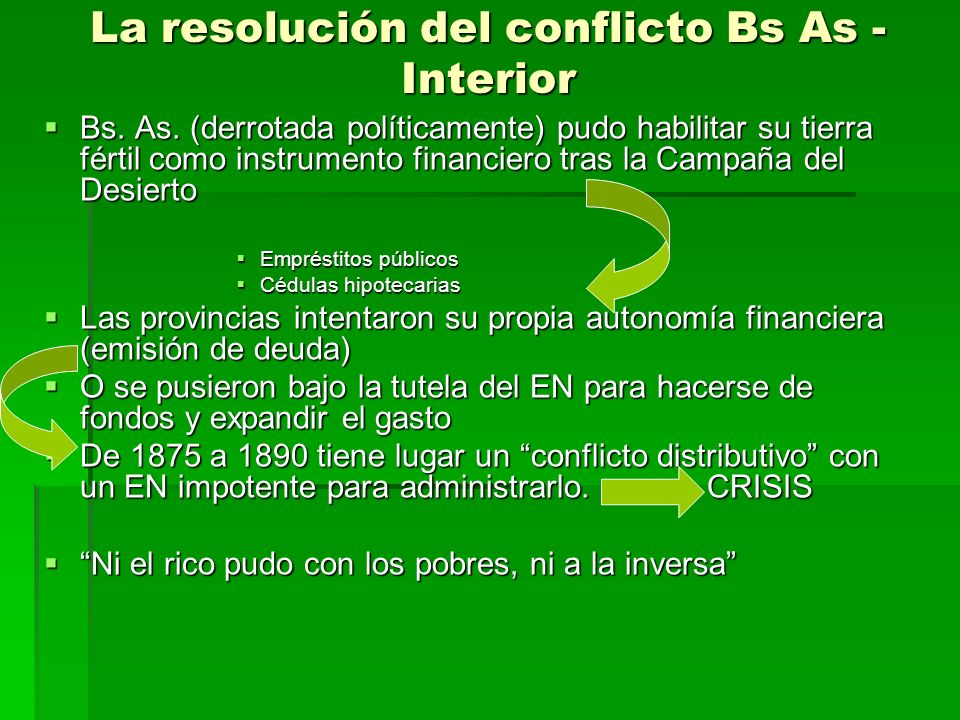 La resolución del conflicto Bs As - Interior