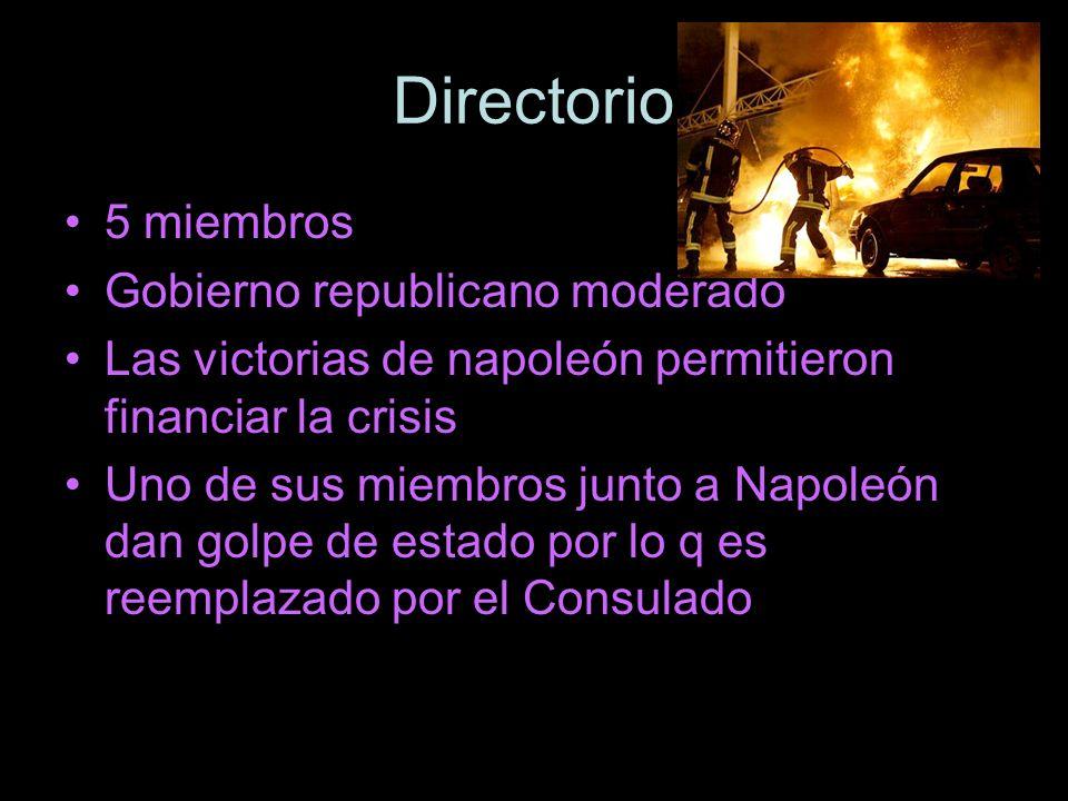 Directorio 5 miembros Gobierno republicano moderado