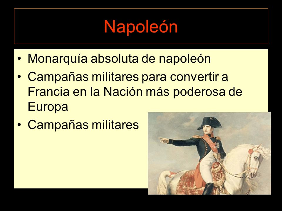 Napoleón Monarquía absoluta de napoleón