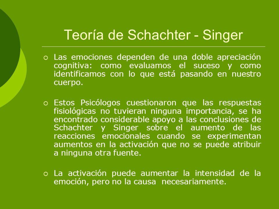 Teoría de Schachter - Singer