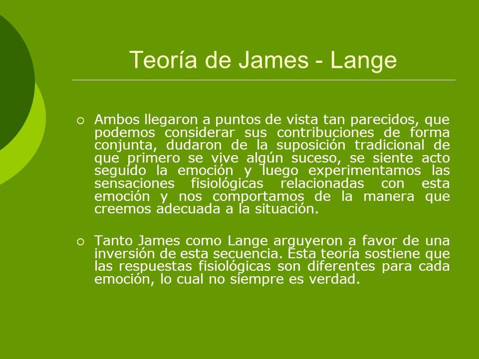 Teoría de James - Lange