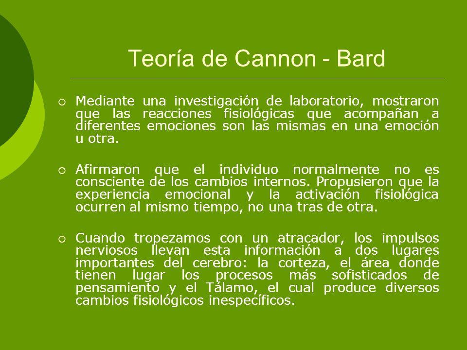 Teoría de Cannon - Bard