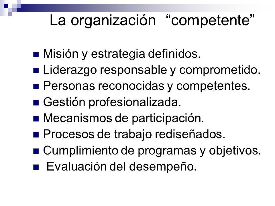 La organización competente