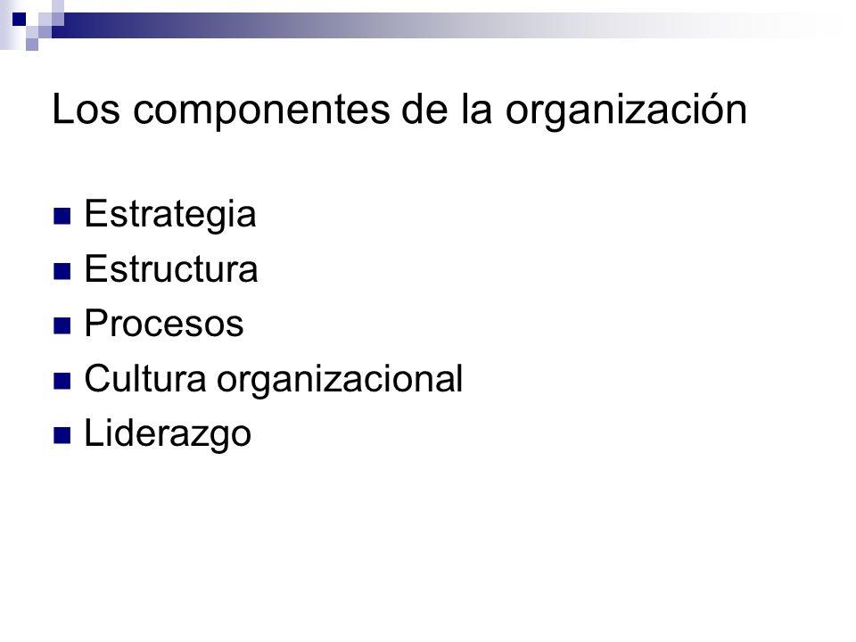 Los componentes de la organización