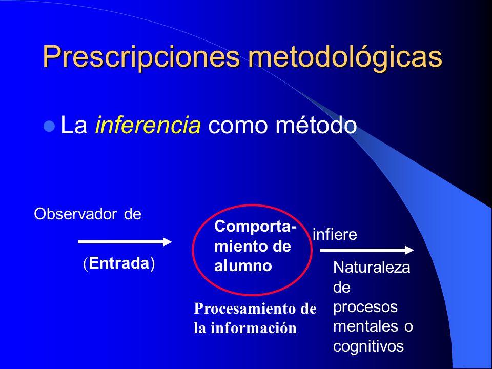Prescripciones metodológicas