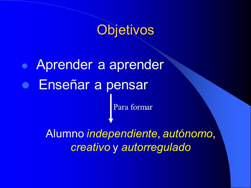 Alumno independiente, autónomo, creativo y autorregulado
