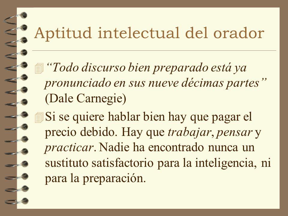 Aptitud intelectual del orador
