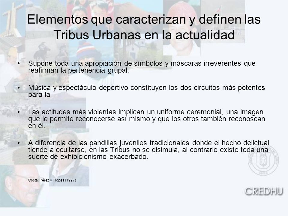 Elementos que caracterizan y definen las Tribus Urbanas en la actualidad