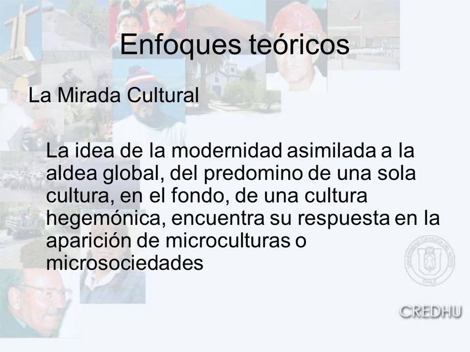 Enfoques teóricos La Mirada Cultural