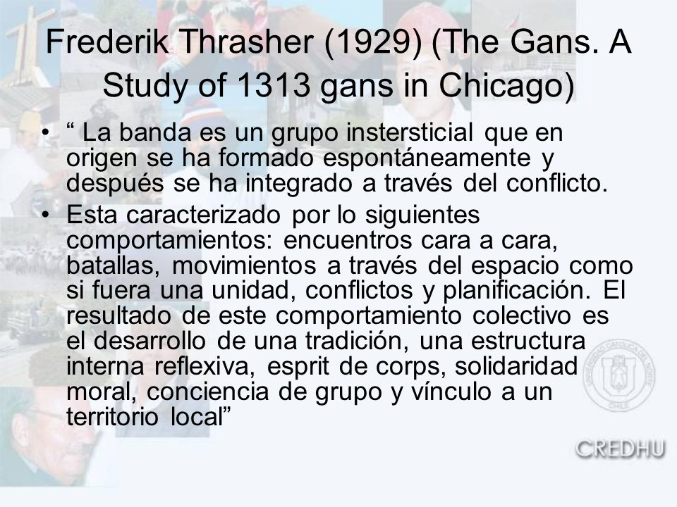 Frederik Thrasher (1929) (The Gans. A Study of 1313 gans in Chicago)