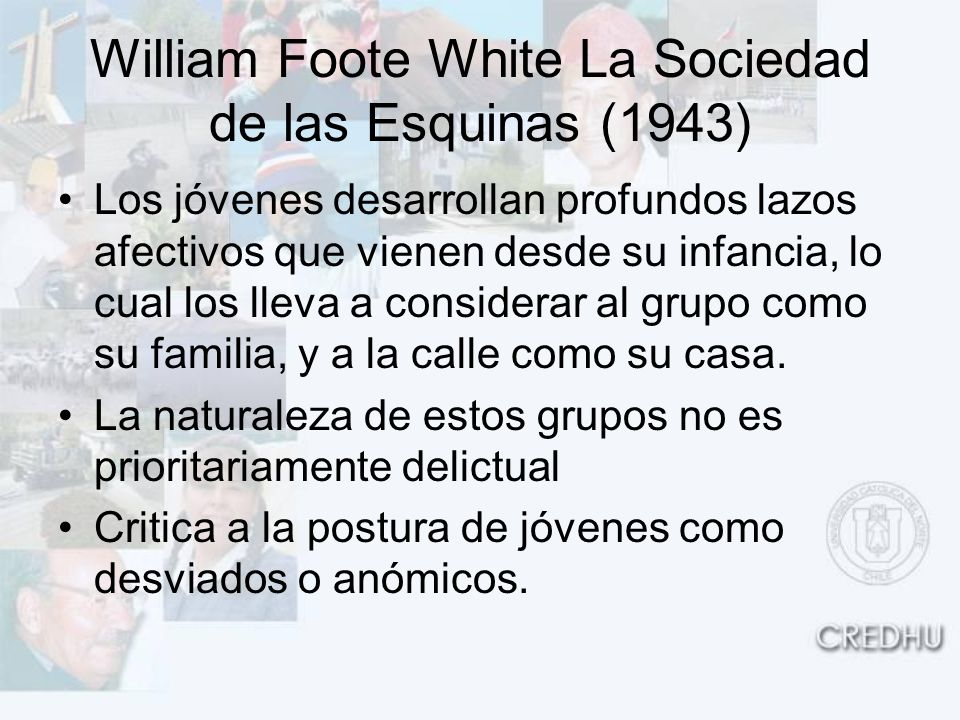 William Foote White La Sociedad de las Esquinas (1943)