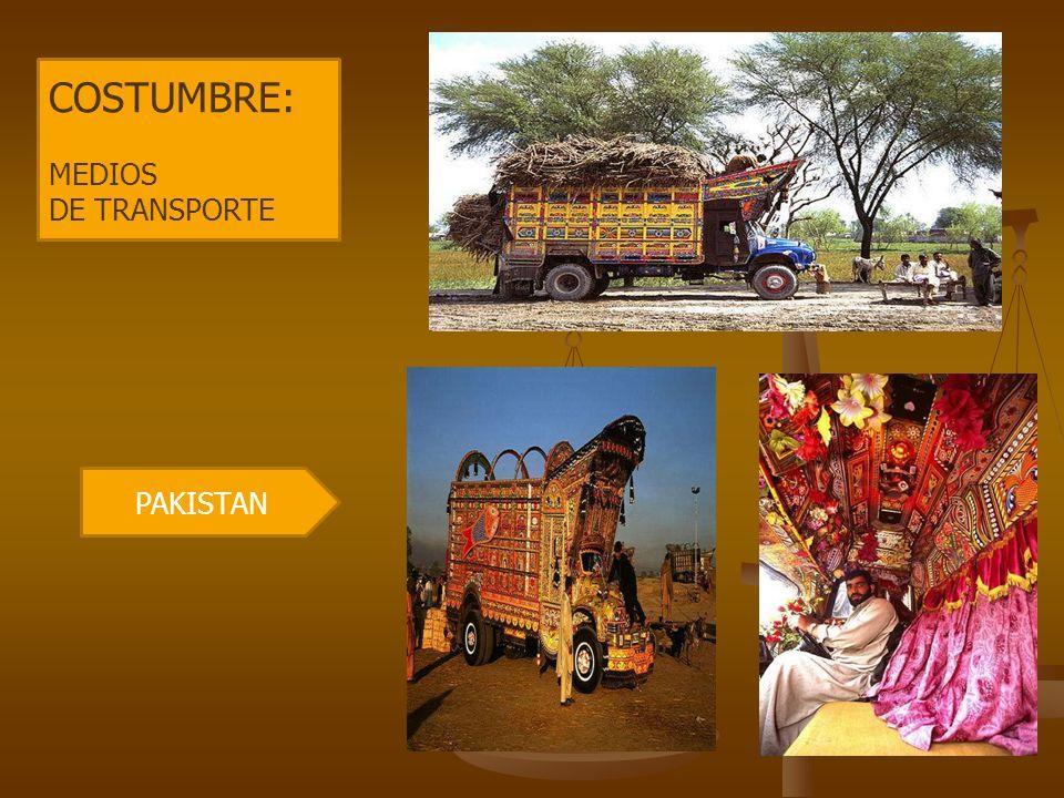 COSTUMBRE: MEDIOS DE TRANSPORTE PAKISTAN