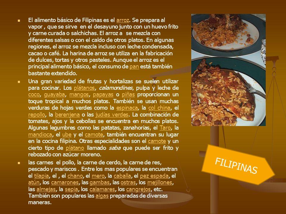 El alimento básico de Filipinas es el arroz