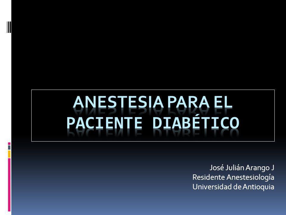 Anestesia para el Paciente diabético