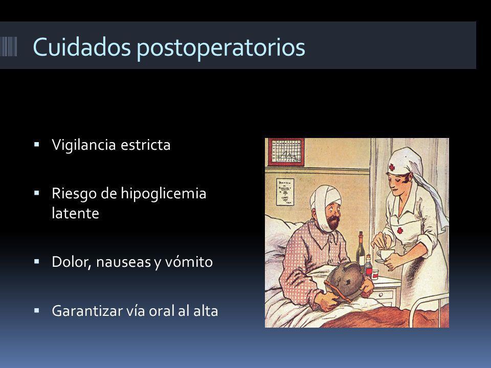 Cuidados postoperatorios