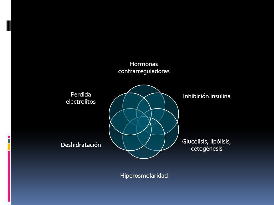 Hormonas contrarreguladoras Inhibición insulina