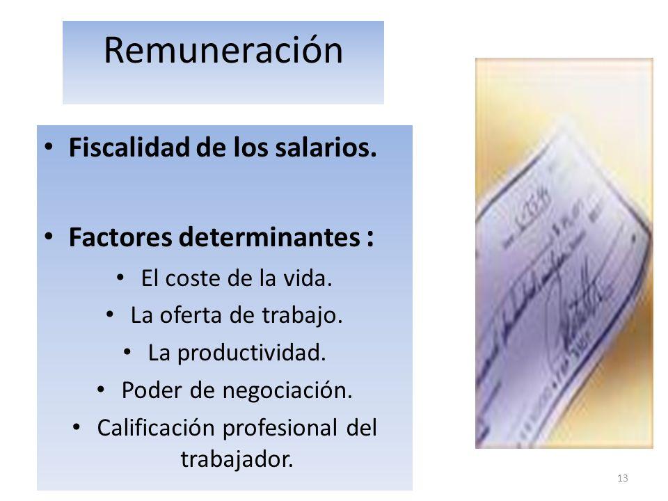 Calificación profesional del trabajador.