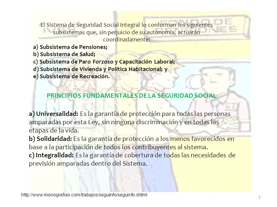 PRINCIPIOS FUNDAMENTALES DE LA SEGURIDAD SOCIAL