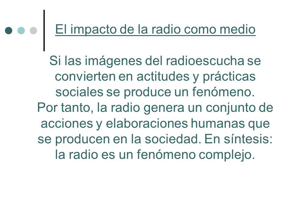 El impacto de la radio como medio