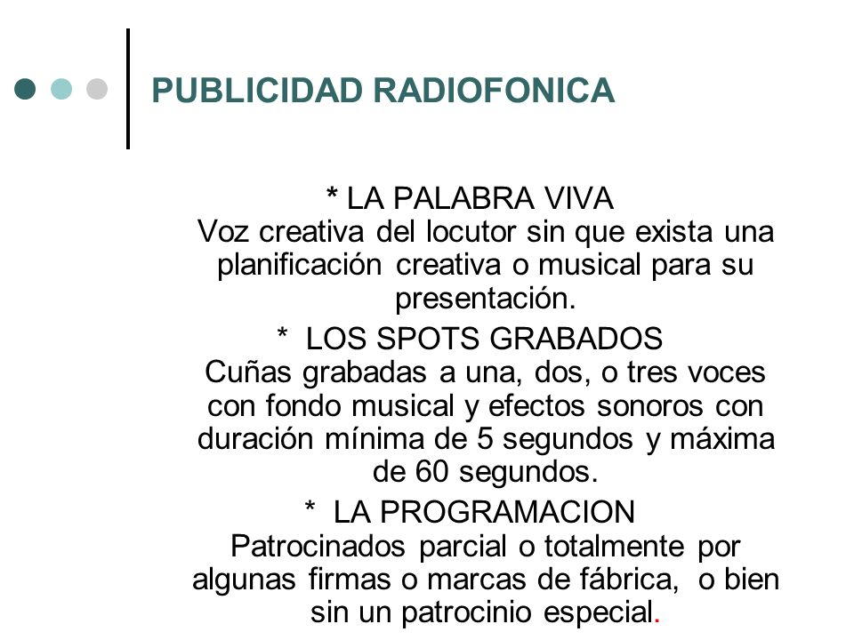 PUBLICIDAD RADIOFONICA