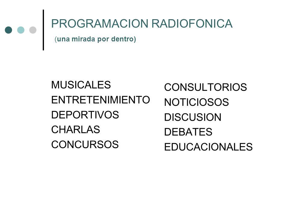 PROGRAMACION RADIOFONICA (una mirada por dentro)
