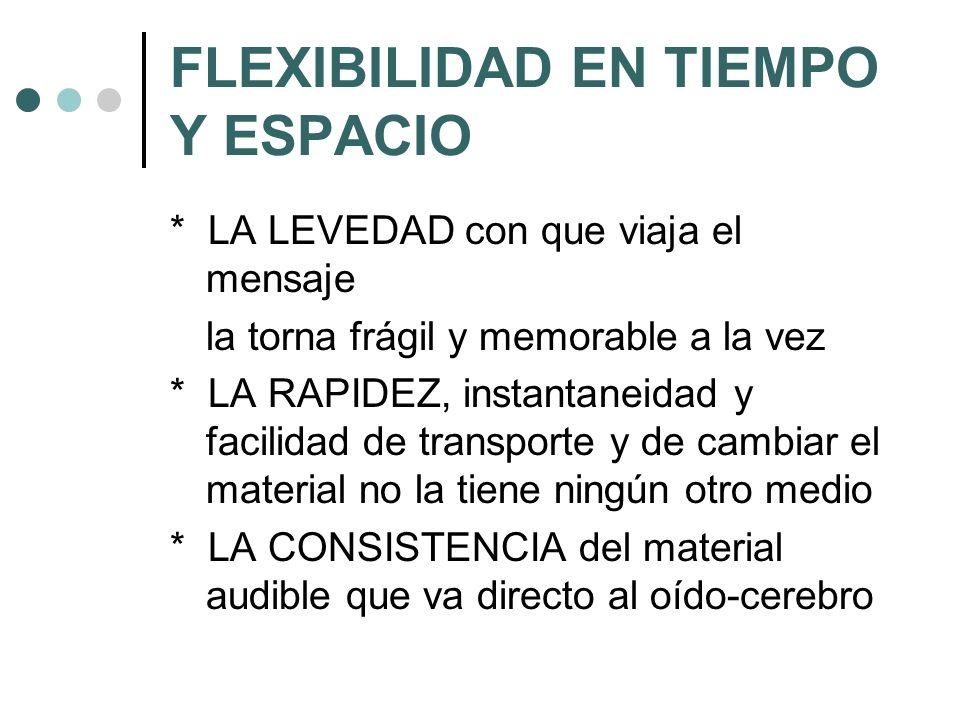 FLEXIBILIDAD EN TIEMPO Y ESPACIO