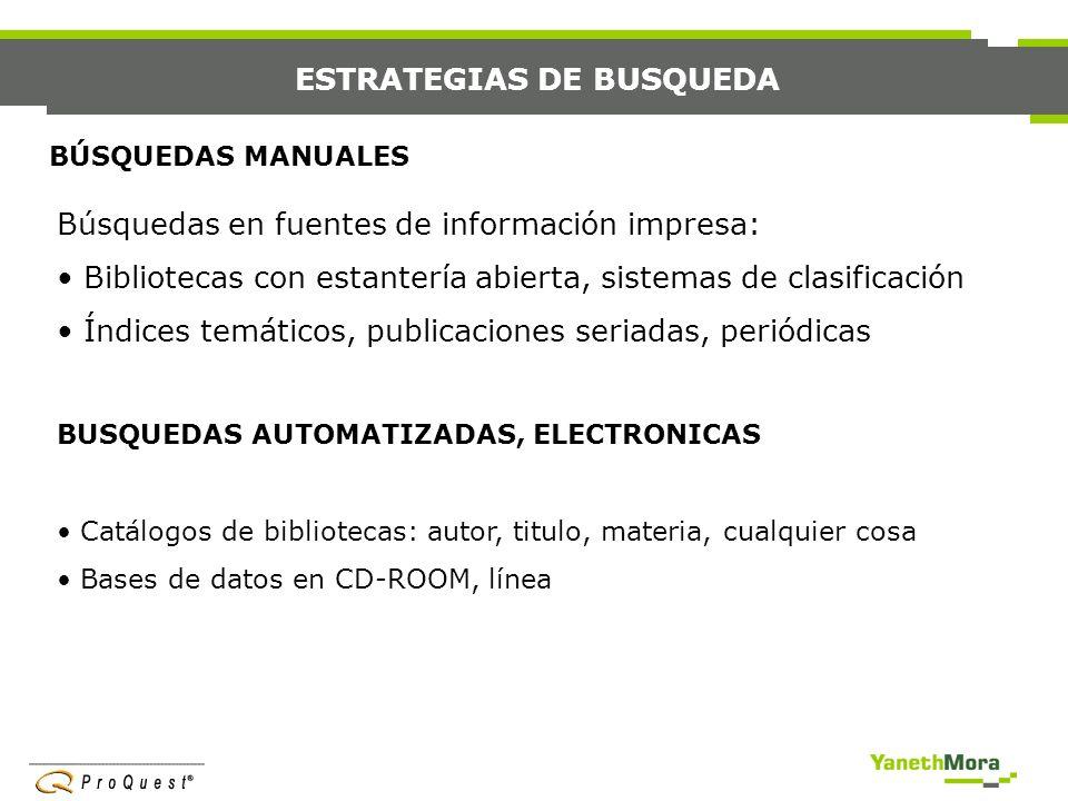 ESTRATEGIAS DE BUSQUEDA
