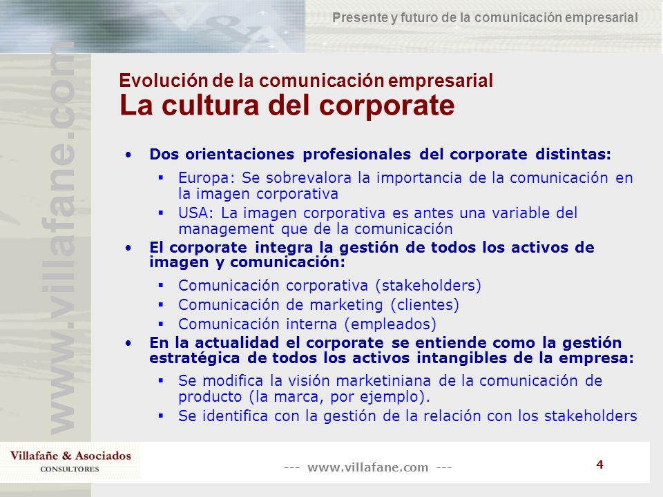 Evolución de la comunicación empresarial La cultura del corporate