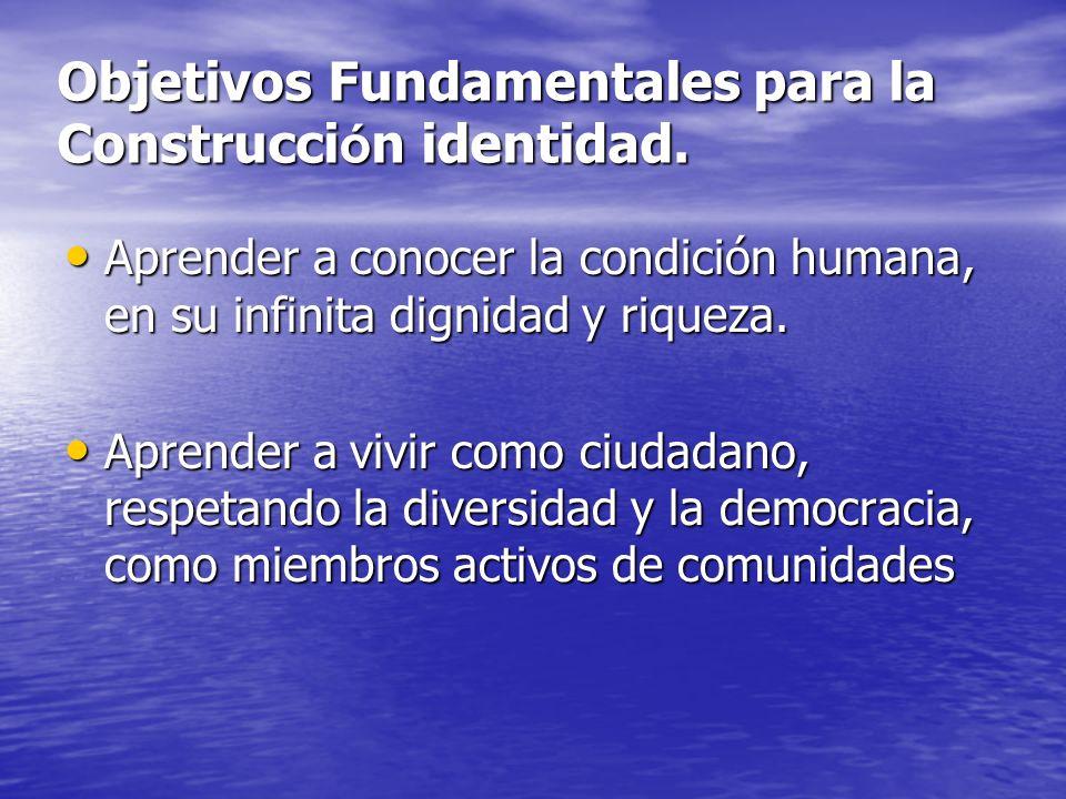 Objetivos Fundamentales para la Construcción identidad.