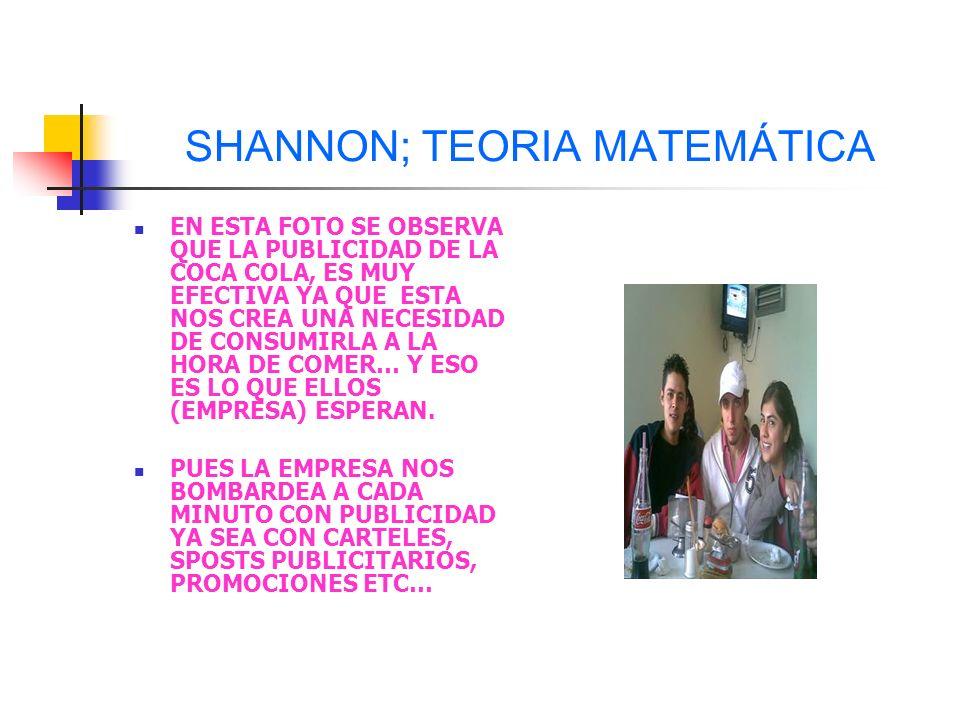 SHANNON; TEORIA MATEMÁTICA