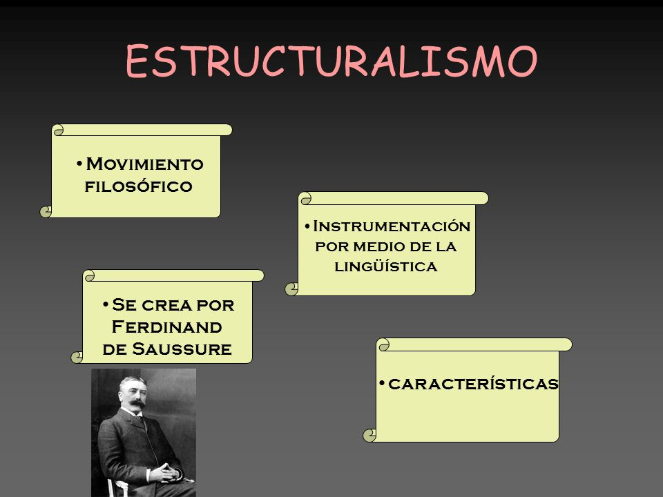 ESTRUCTURALISMO Movimiento filosófico