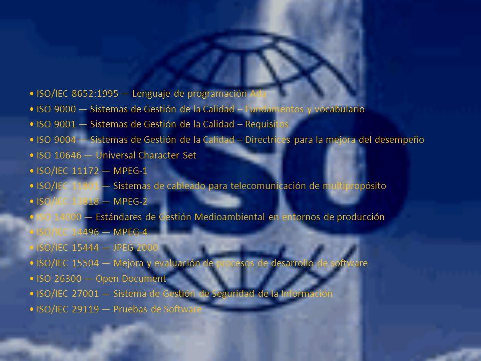 • ISO/IEC 8652:1995 — Lenguaje de programación Ada