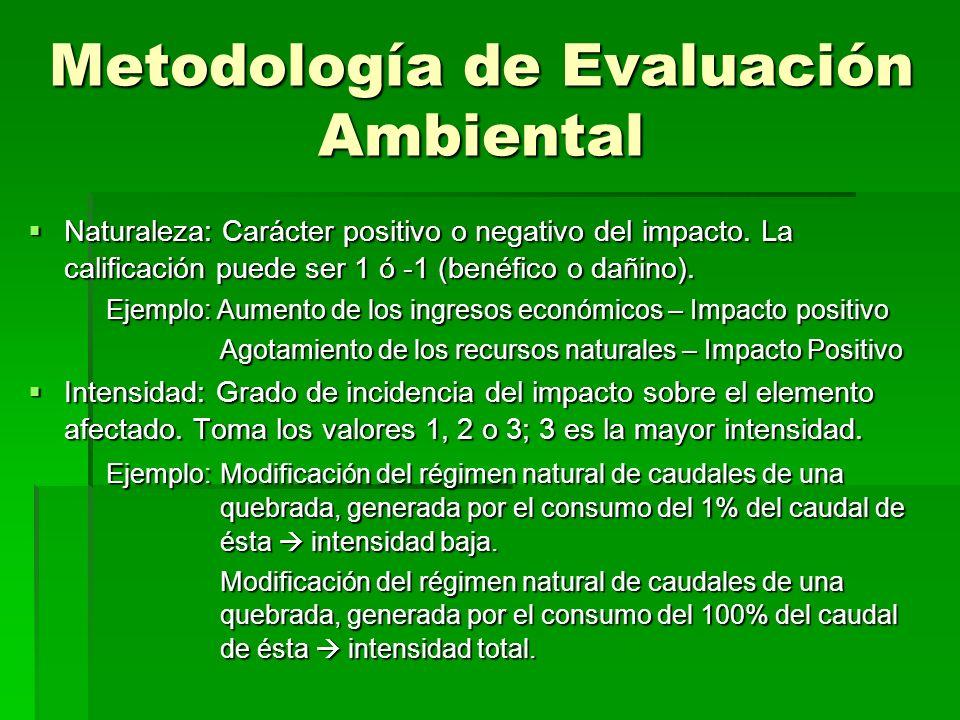Metodología de Evaluación Ambiental