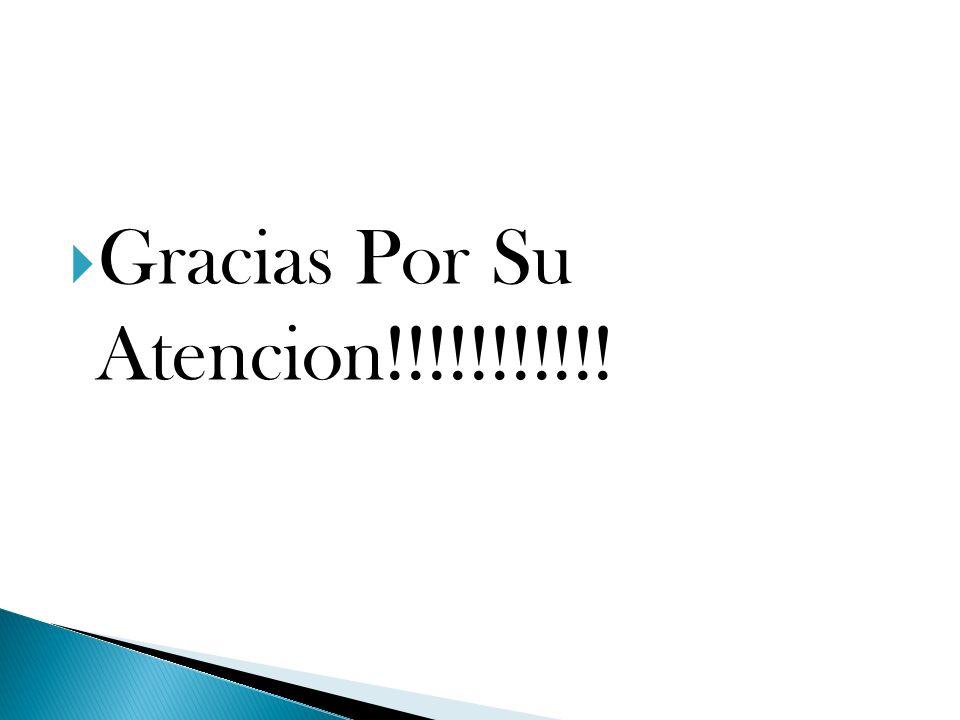 Gracias Por Su Atencion!!!!!!!!!!!