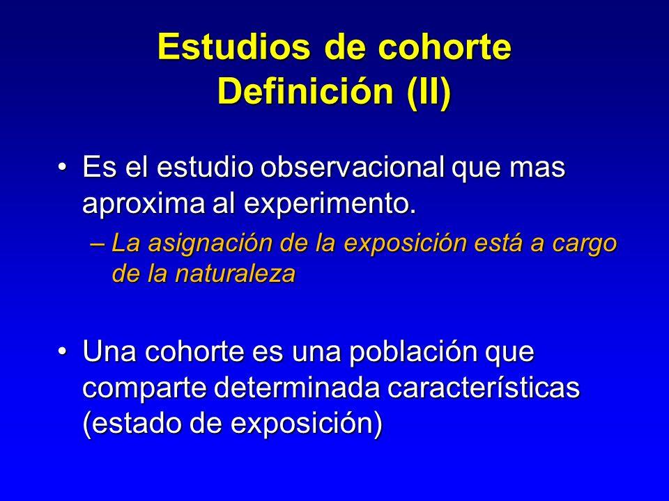 Estudios de cohorte Definición (II)