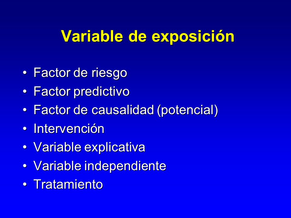 Variable de exposición