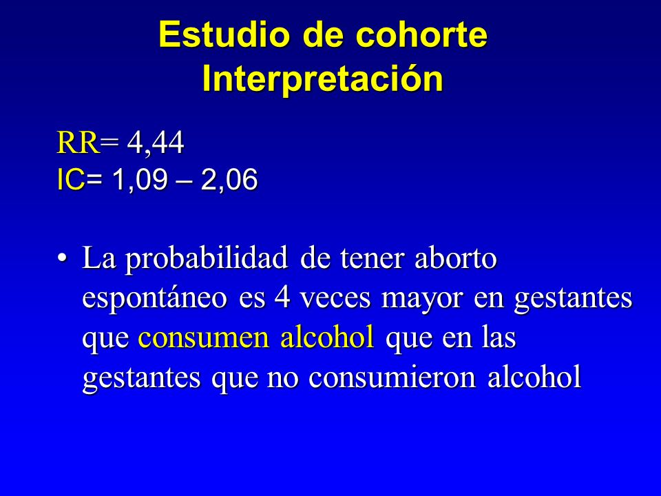Estudio de cohorte Interpretación