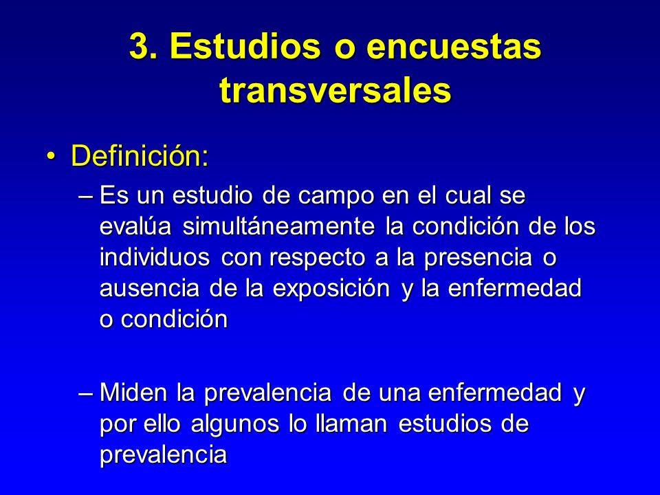 3. Estudios o encuestas transversales