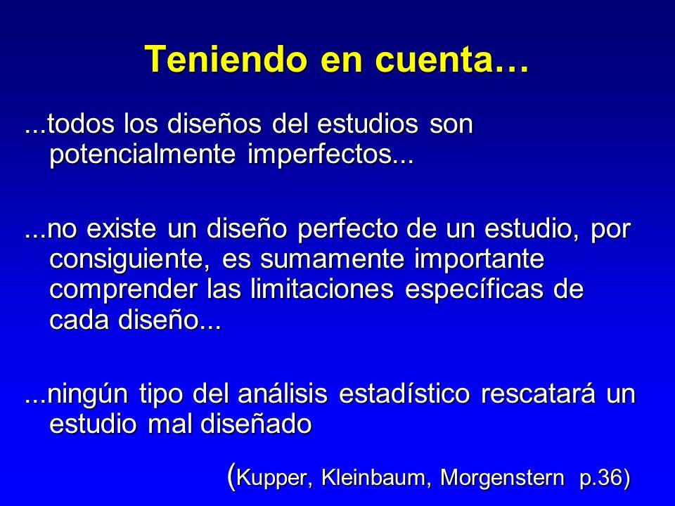 Teniendo en cuenta… (Kupper, Kleinbaum, Morgenstern p.36)