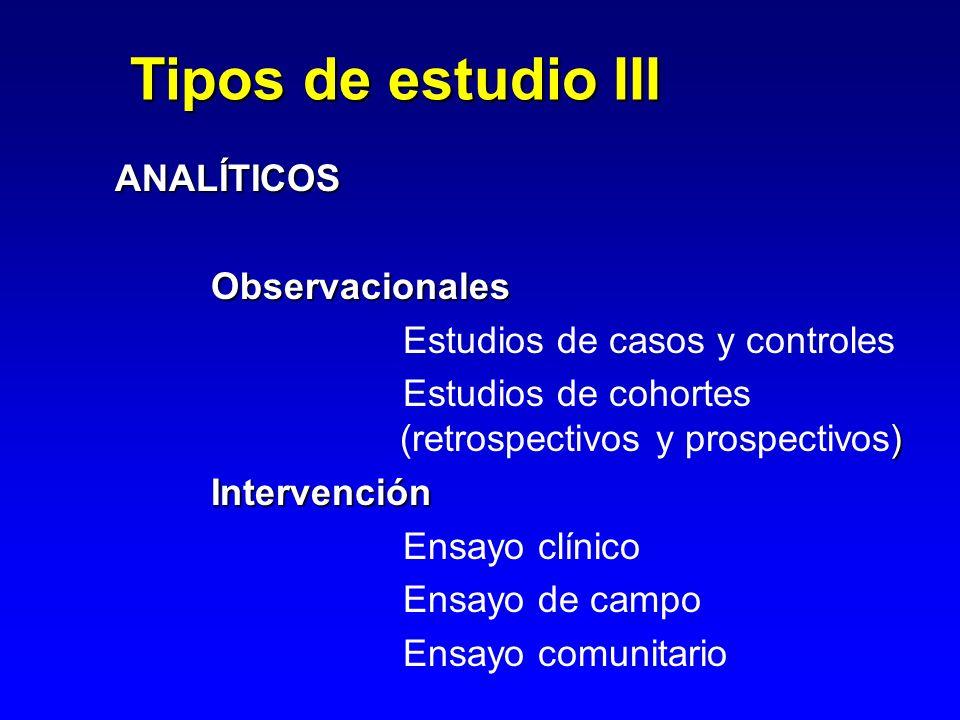 Tipos de estudio III