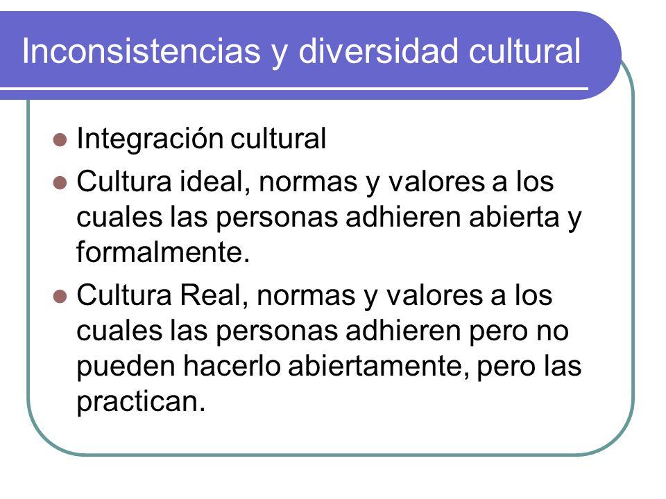 Inconsistencias y diversidad cultural