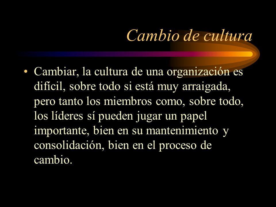 Cambio de cultura