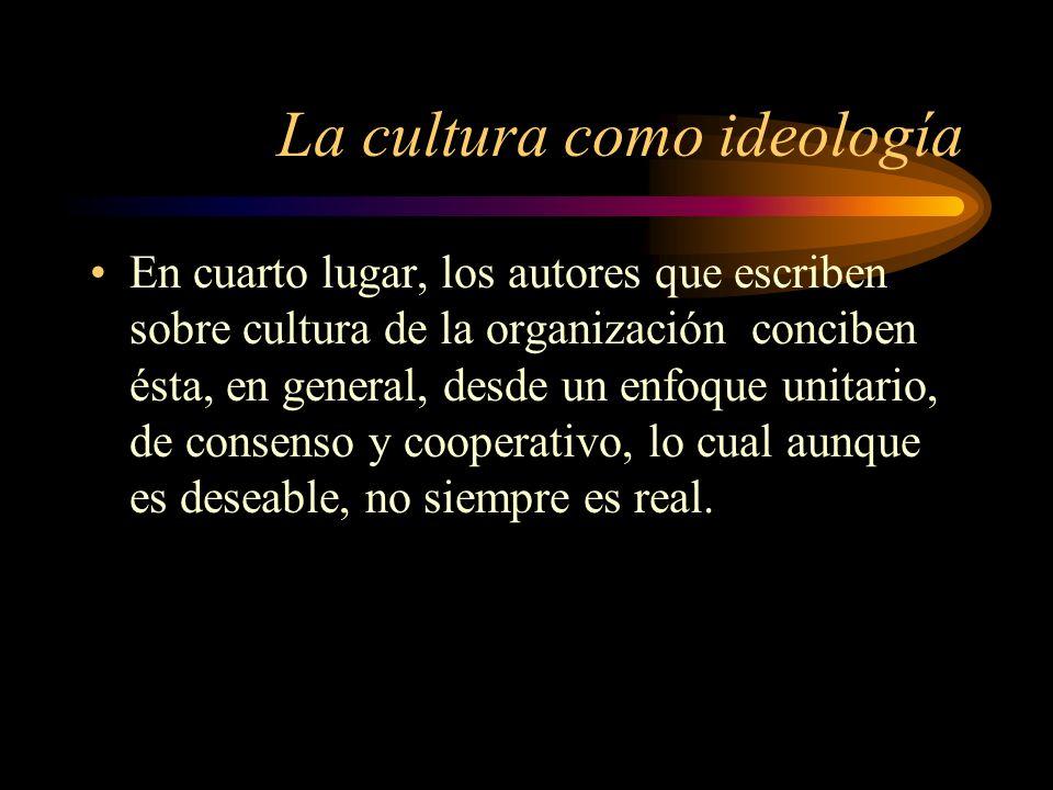 La cultura como ideología