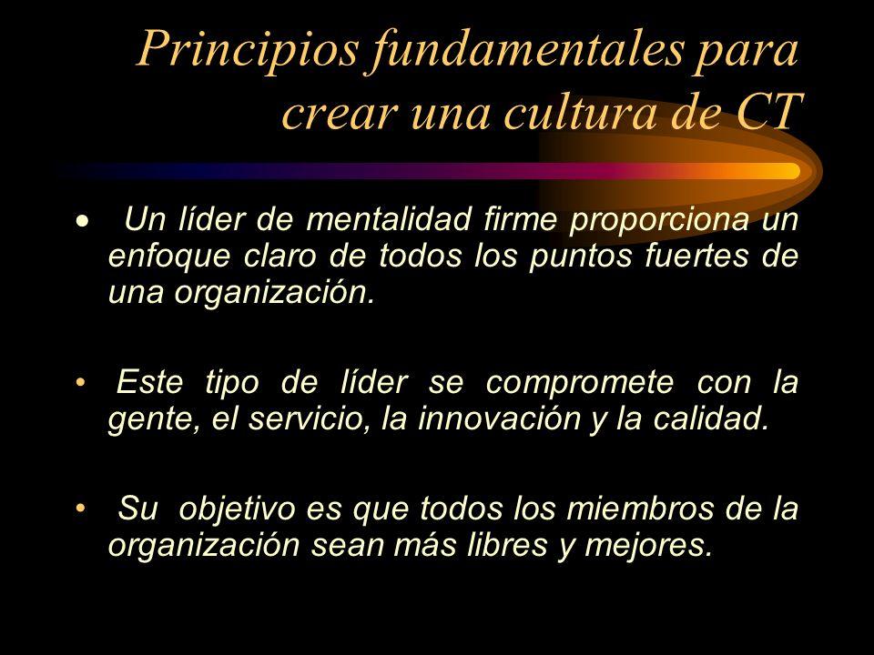 Principios fundamentales para crear una cultura de CT