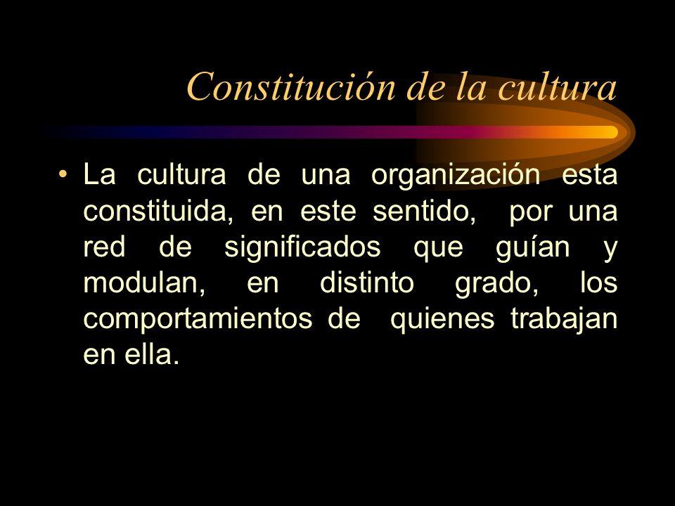 Constitución de la cultura